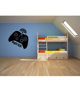 Xbox one console controller customised bedroom wall sticker.