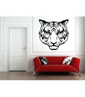 Tiger head art giant wall sticker.