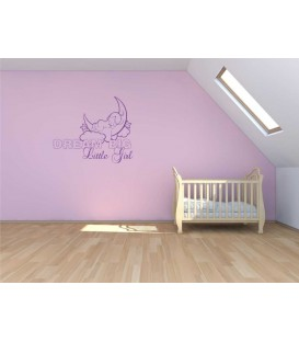 Dream big little girl personalised wall sticker.
