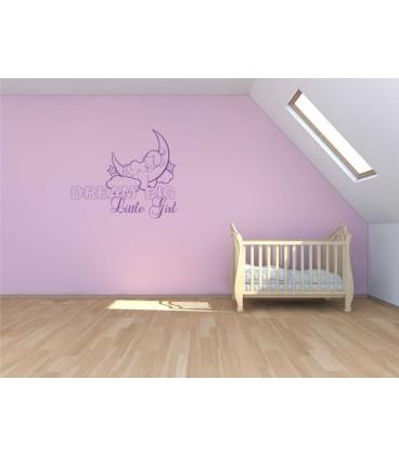 Dream big little girl personalised wall sticker.