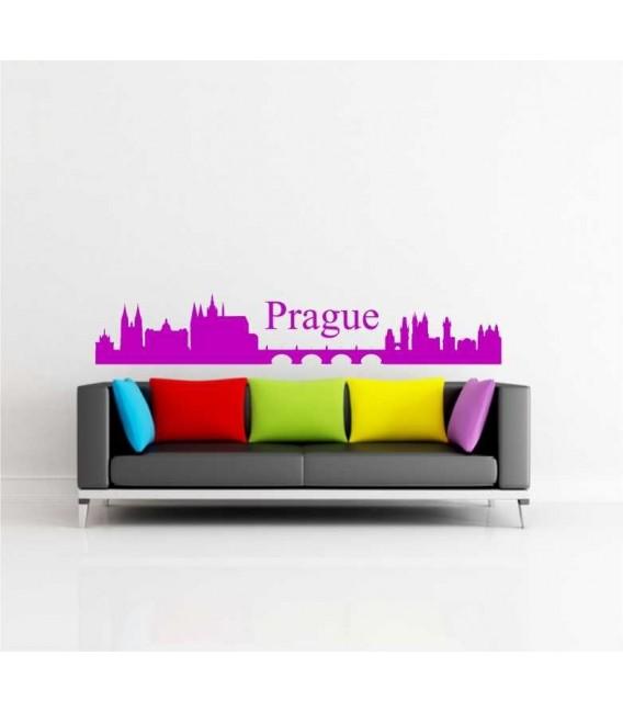 Prague city skyline wall sticker