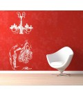 Naked woman gymnast bedroom wall sticker.