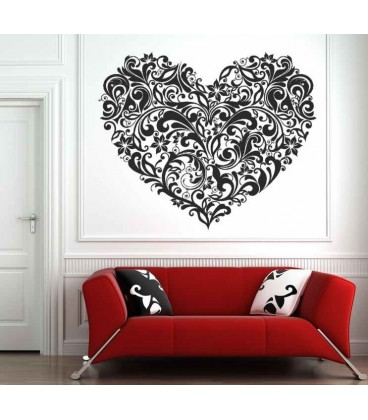 Bedroom flower wall decal wall art decoration.