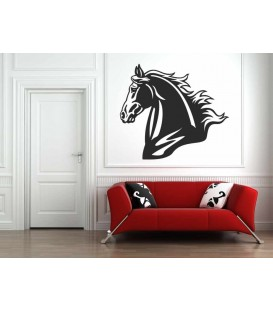 Horse's head animal art giant wall decal.