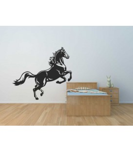 Artistic horse silhouette, vinyl wall stickers. Home decor.