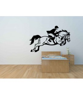 Horse racing, vinyl wall stickers. Home decor.