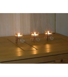 Set of wooden tea lights holders.