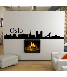 Oslo city skyline wall sticker.