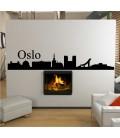 Oslo city skyline wall sticker.