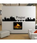 Rome city skyline lounge wall sticker.