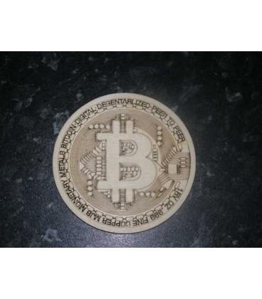 Bitcoin logo wooden laser cut coaster.