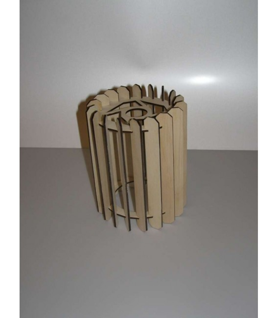Pure natural wooden ceiling hanging lampshade.