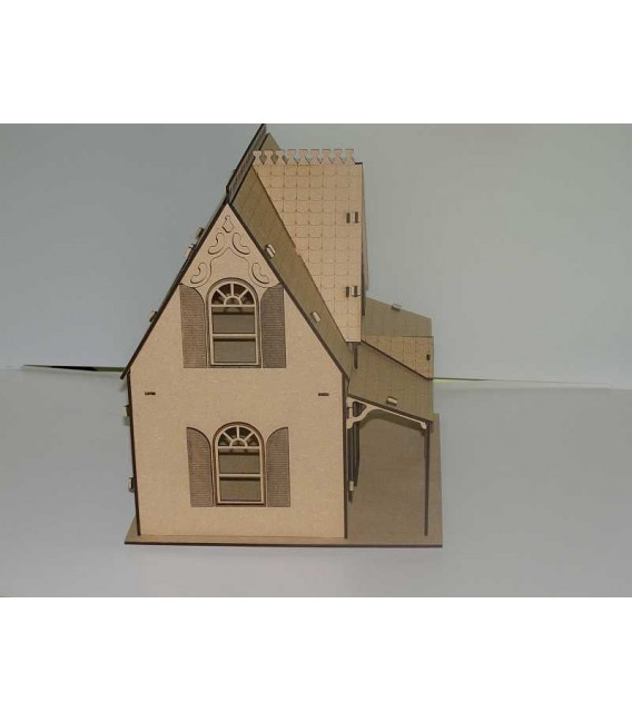 Wooden Doll House with furniture set.