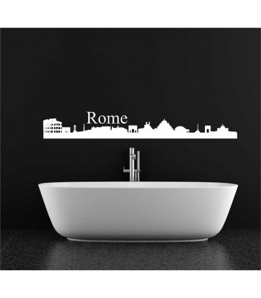 Rome city skyline lounge wall sticker.