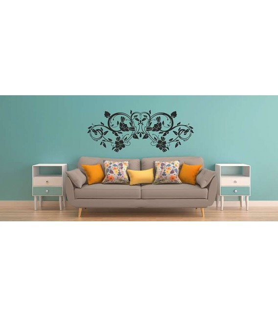 Flower wall decal, flower wall sticker for wall decoration, flower painting stencil sticker.