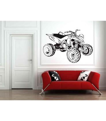 Quad bike boys bedroom giant art wall sticker, quad bike wall decal.