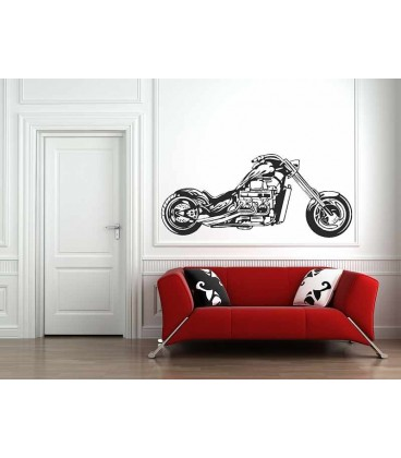 Motorbike wall decal boys bedroom wall art sticker, wall graphics.