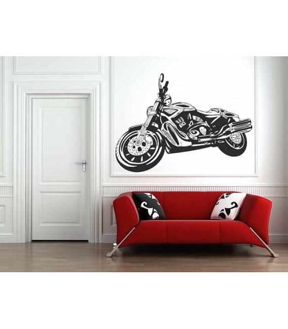 Motobike boys bedroom giant art wall sticker.