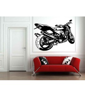 Super motorbike silhouette boy wall sticker pattern 2.