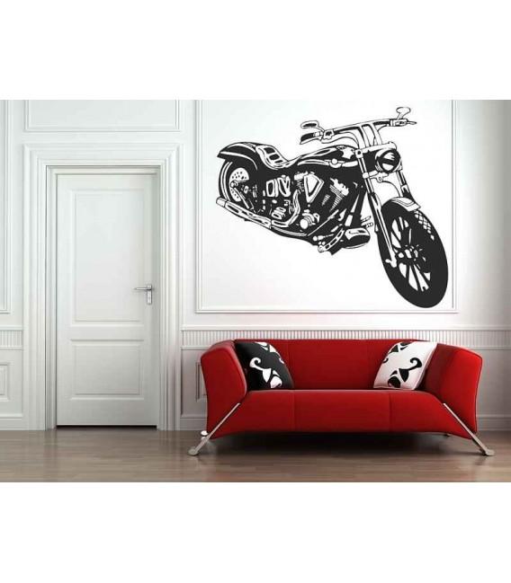 Motorbike boys bedroom wall sticker, wall graphics.