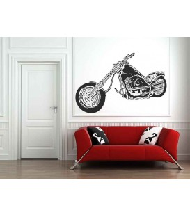 Motorbike wall decal boys bedroom wall art sticker.