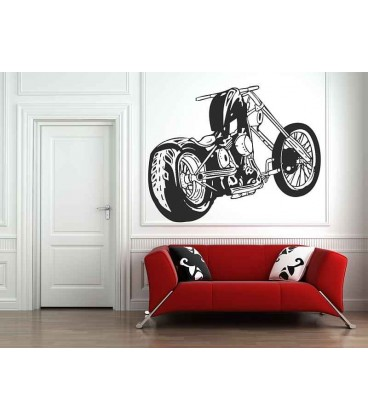Motorbike boys bedroom wall sticker, wall art stickers.