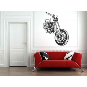 Motorbike boys bedroom wall art stickers, bedroom wall art.