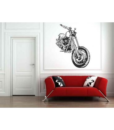 Motorbike boys bedroom wall art stickers, bedroom wall art.