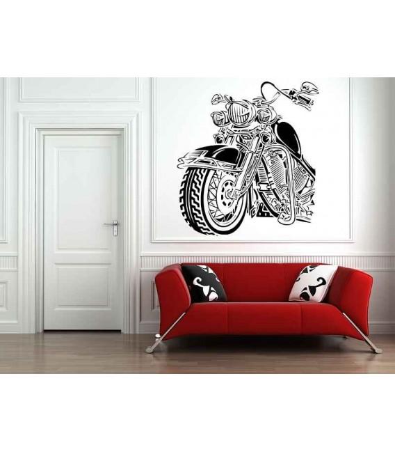 Road king cruiser motorbike boys bedroom wall sticker, motorbike wall decal.