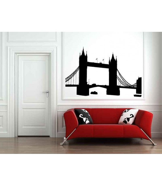 London Skyline wall decal, London skyline wall graphics, wall stickers.