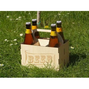 Wooden beer bottle carry case, beer carry box.