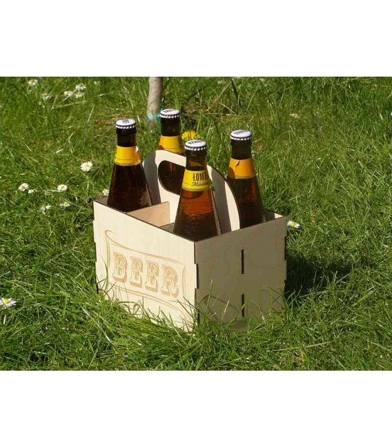 Wooden beer bottle carry case, beer carry box.