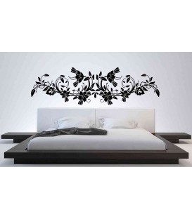 Flower wall sticker for wall decoration.