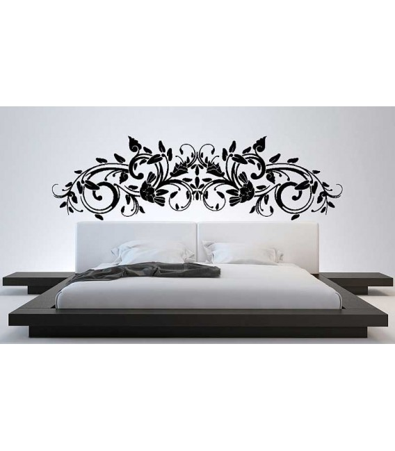Flower wall decal bedroom art decoration.