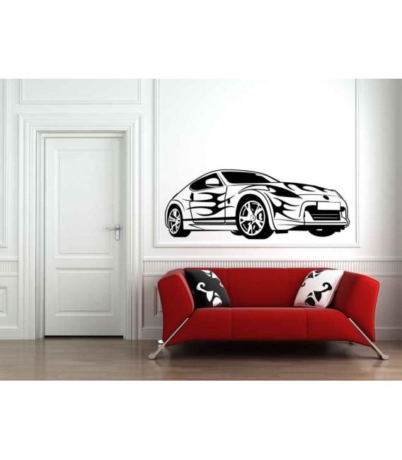 Sport car boys bedroom giant decorative wall sticker.