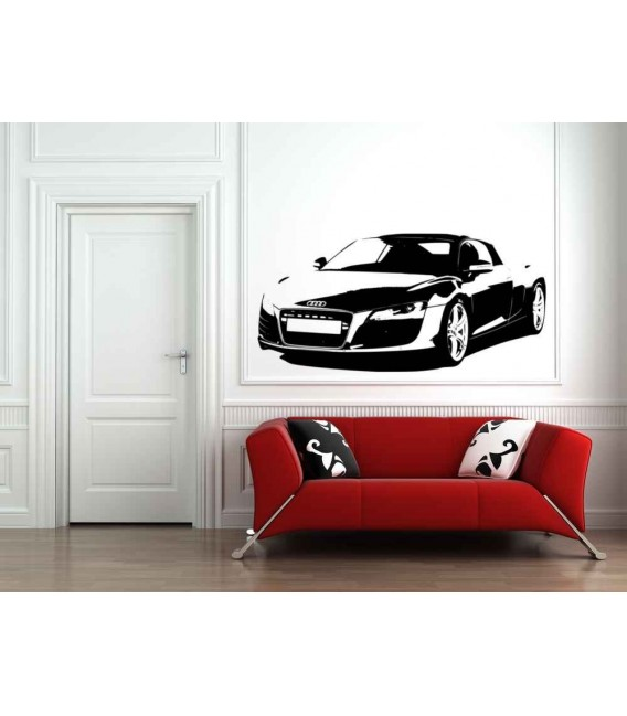 Audi R8 boys bedroom giant decorative wall sticker.