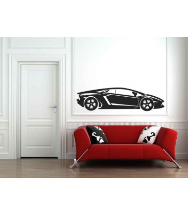 Cars personalised boys bedroom wall sticker kit.