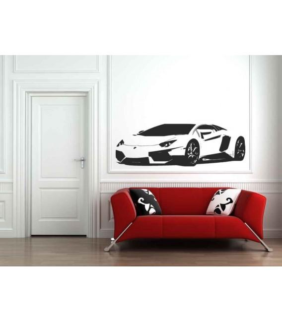Sports super car boys bedroom giant decorative wall sticker.