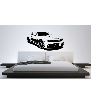 Sports super car boys bedroom giant decorative wall sticker. Sports car sticker.
