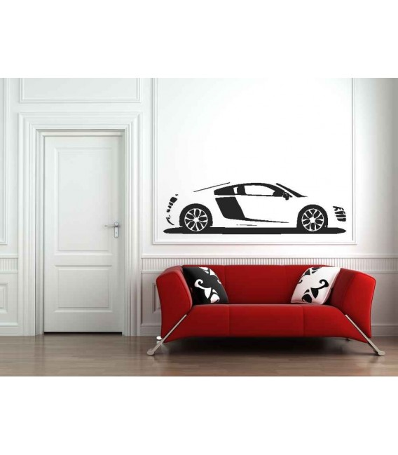Audi R8 boys bedroom giant art decorative wall sticker.