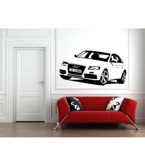 Audi boys bedroom giant art decorative wall sticker.