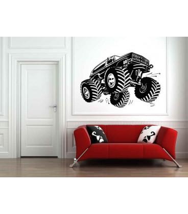 Monster truck boys bedroom giant art wall sticker.