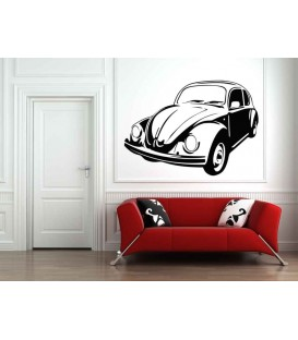 VW Beatle boys bedroom giant art wall sticker.