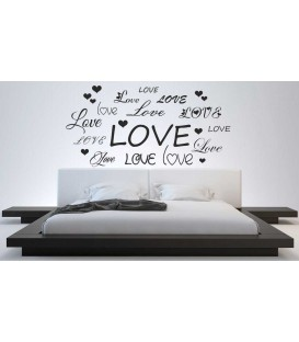 Love words romantic bedroom wall sticker.
