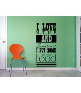 I love wine kitchen wall decal.
