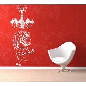Tiger decorative wall art sticker, tiger wall decal.
