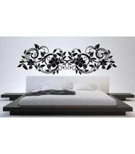 Big flower bedroom wall sticker decoration.