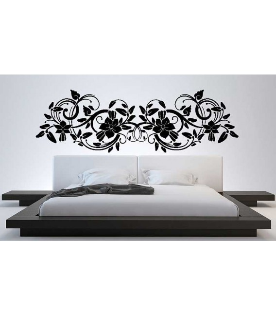 Big flower bedroom wall sticker decoration.