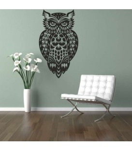 Owl as bedroom wall art sticker.