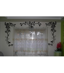 Rose flowers border wall sticker for wall decoration.